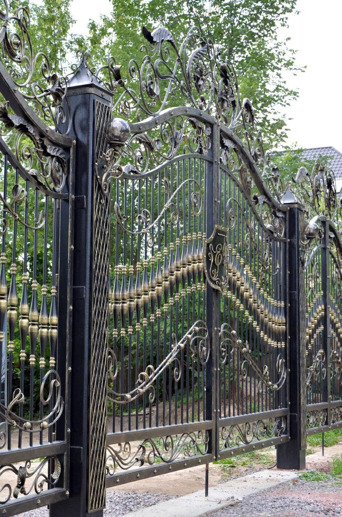 Кованые ворота, парковые ворота, арт. 20001