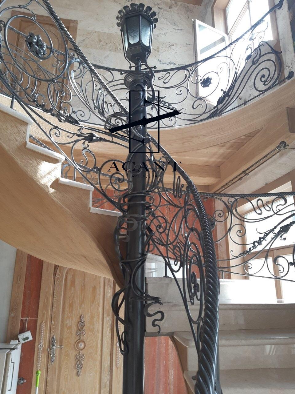 Винтовые кованые лестницы
