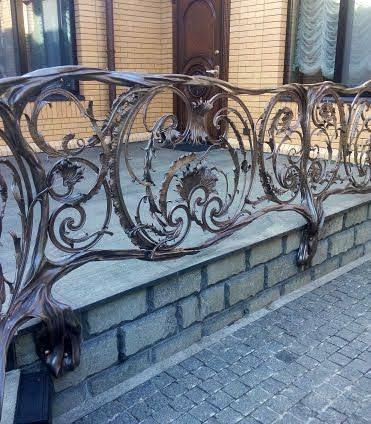 Кованые балконы, французский балкон, фото, изготовление, цена, Киев