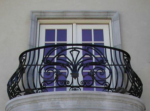 Красивый Кованый балкон КБ-7, французский балкон, фото, Киев, Украина