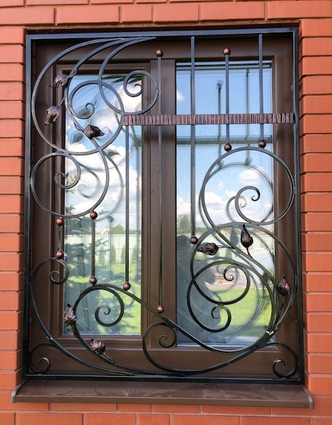 Кованые решетки на окна, арт. 30002