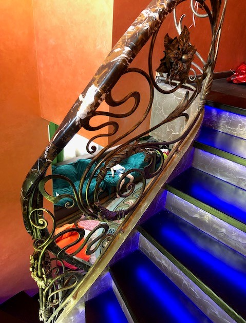 кованая лестница в дом