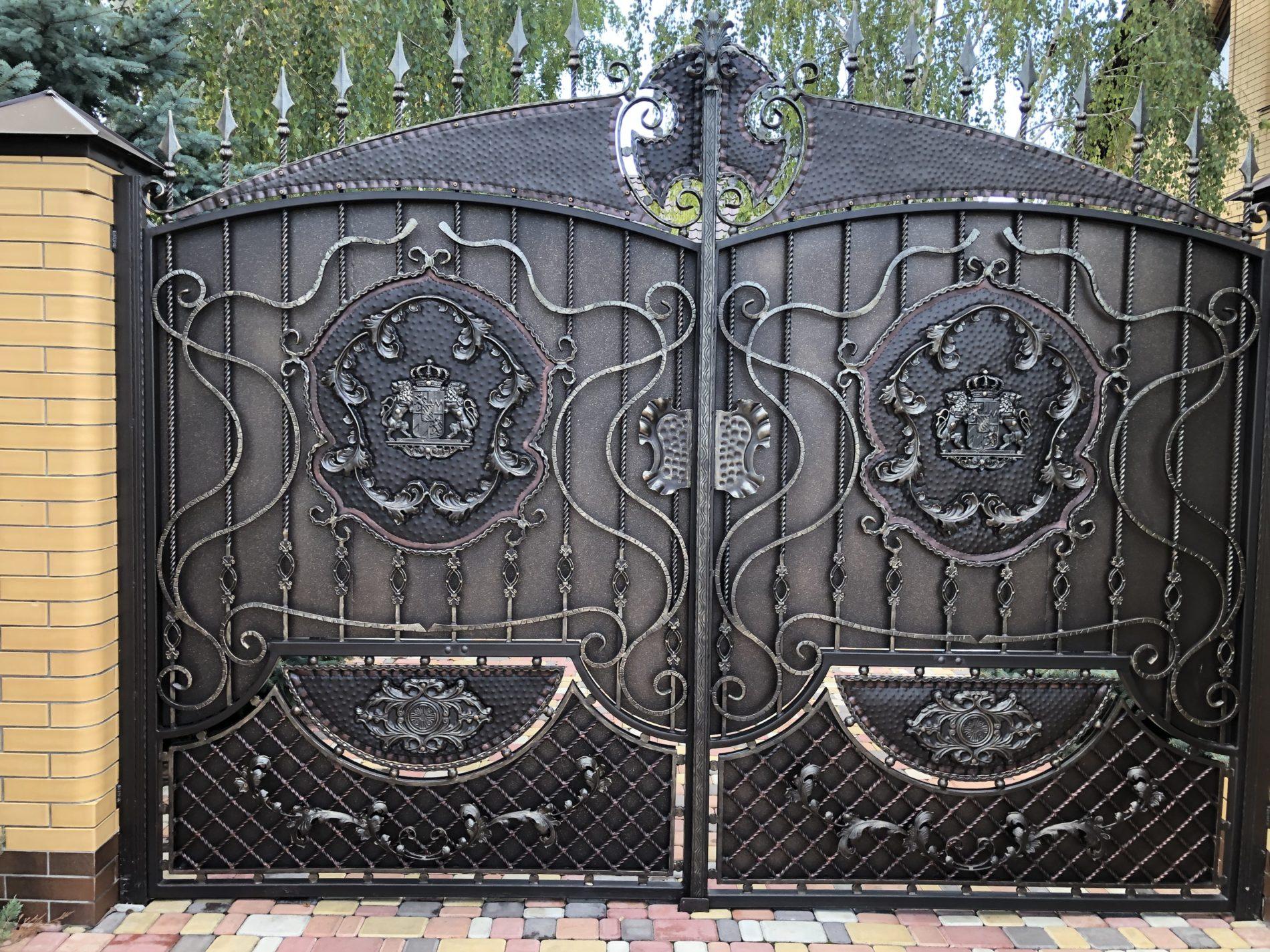 ковані ворота фото