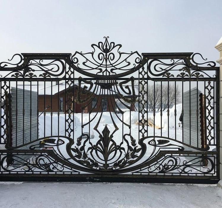 Кованые откатные ворота, арт. 20006
