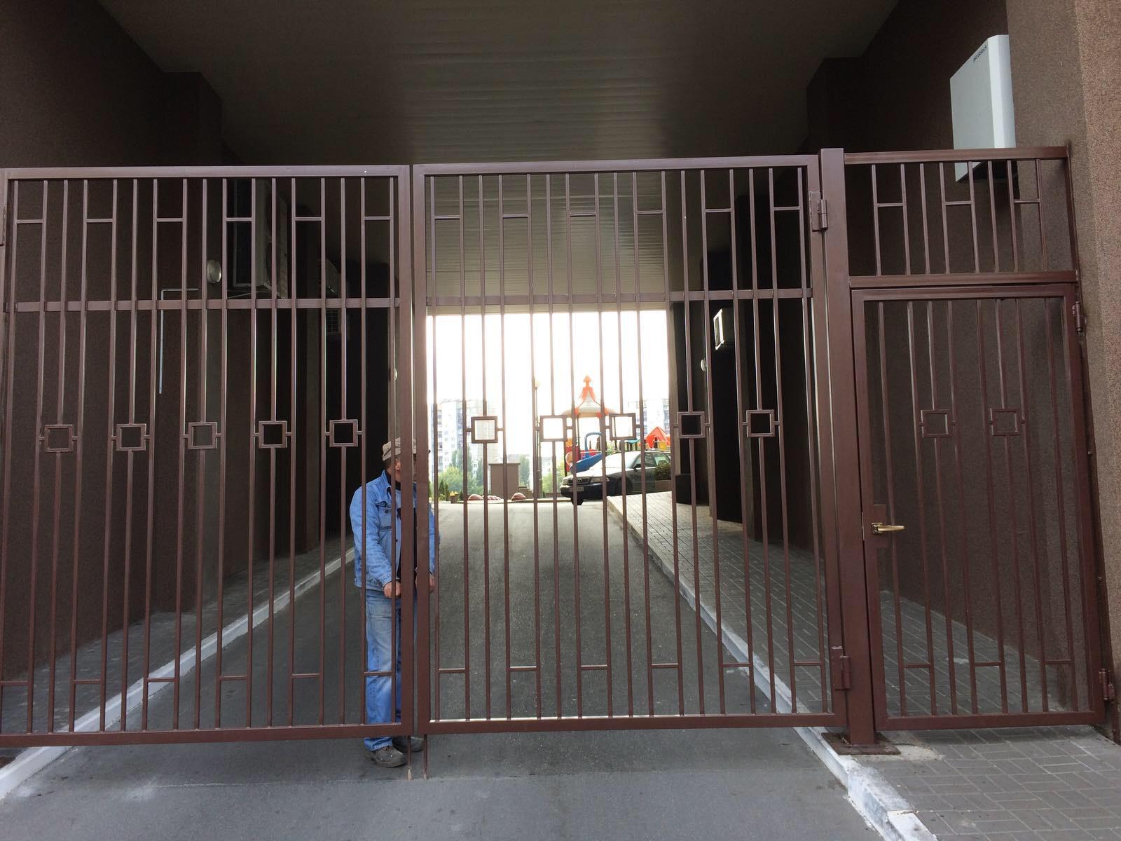 Металлические ворота, 1 м.кв. арт. 20008